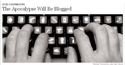 Los blogs son un formato estupendo para la cobertura del Apocalipsis