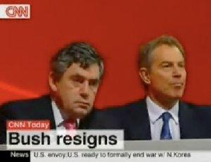 Bush dimite durante 12 segundos