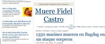 El Pa�s mata a Fidel