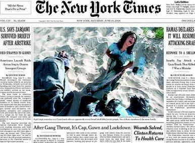 Portada del NYT