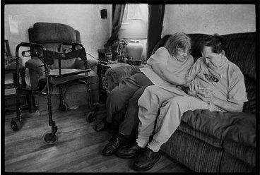 Un veterano de Vietnam que qued� expuesto al agente naranja. Foto: James Nachtwey