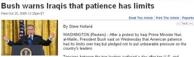 Pero Bush ya está un poco nervioso