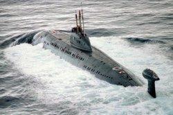 Un submarino ruso de la clase Victor III