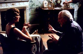 Altman en el rodaje de Gosford Park