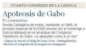Aplauden a Gabo y se lo contamos por sms