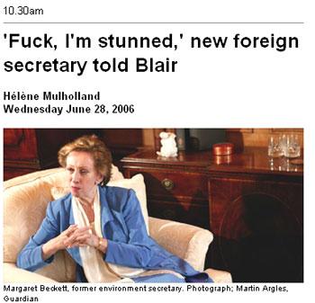 Fuck, dijo la ministra