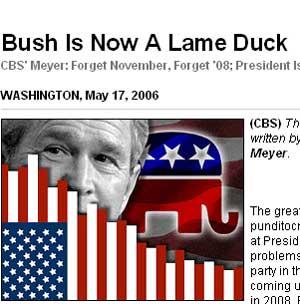 Bush ya es un pato cojo