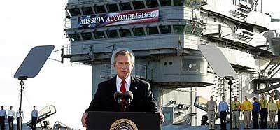 Bush: mision no cumplida