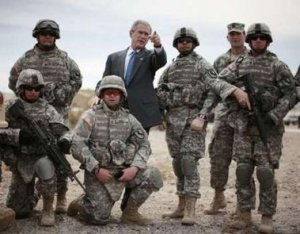 Bush se pega a los uniformes