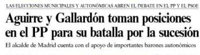 Gallardón hasta en la sopa en El País