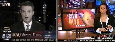 La misma guerra en dos canales diferentes