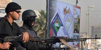vigilando las calles de Bagdad