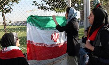 Las mujeres iraníes, detrás de la valla