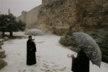 Nieve en Jerusaln