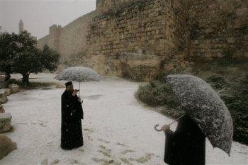 Nieve en Jerusalén