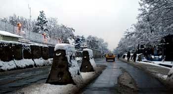 Barreras en Kabul