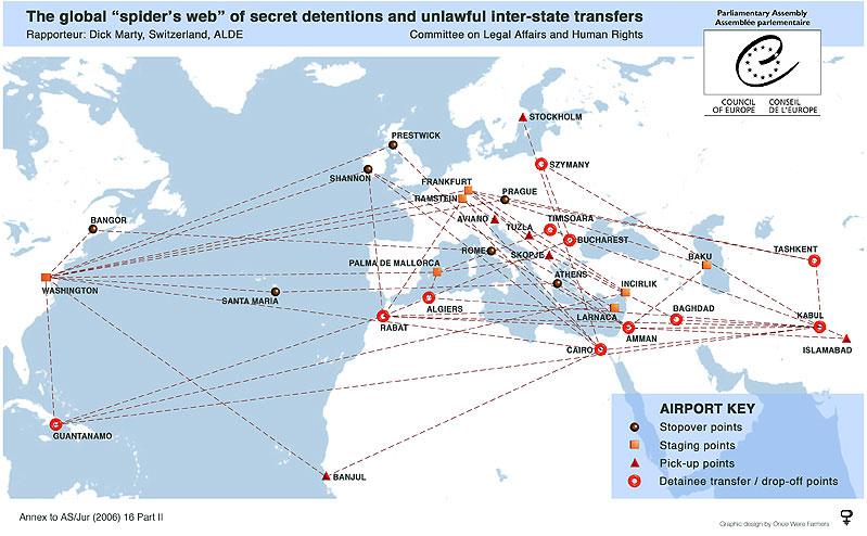 Las invetigaciones concluyeron que la CIA utilizaba España como escala de sus operaciones