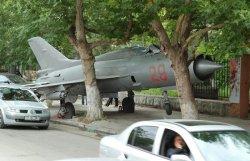 Un avión en una calle de Moldavia