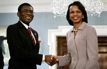 Obiang y  Rice, encantados de conocerse