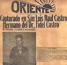Raúl Castro en 1953