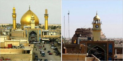 La mezquita de Samarra, antes de la guerra y después del último atentado