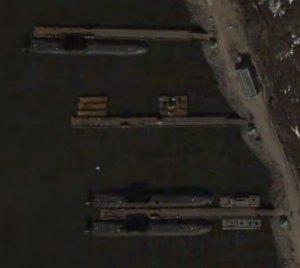 Submarinos de la clase Typhoon en Murmansk