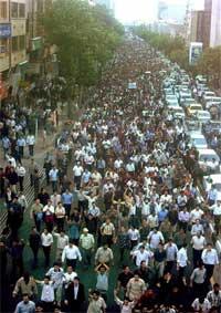 Manifestación en Tabriz