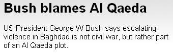 A Bush se le acaban los argumentos