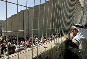Una valla en Jerusalén. Foto: AP