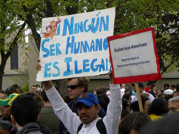Protesta contra leyes antiinmigracion