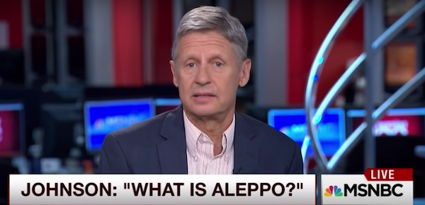 Gary Johnson no sabe lo que es Alepo