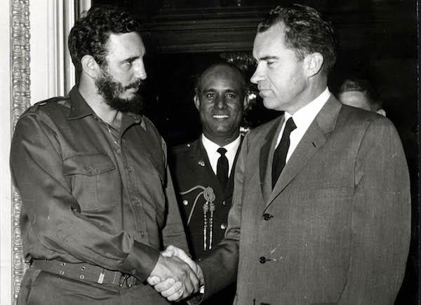 Fidel Castro y Richard Nixon