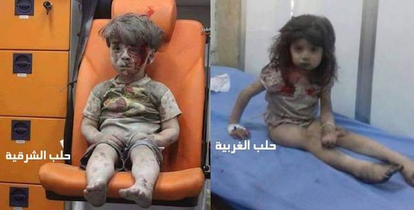 Dos víctimas de la guerra en Alepo