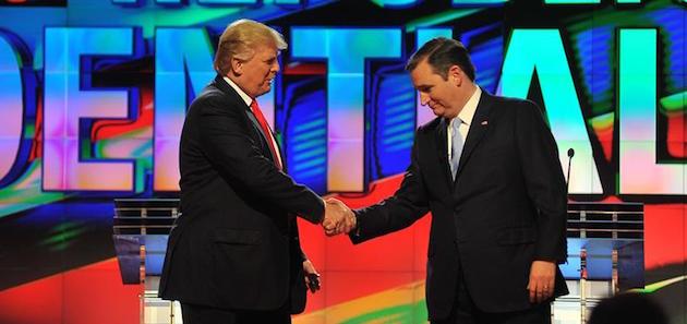Cruz y Trump en las primarias, cuando se odiaban
