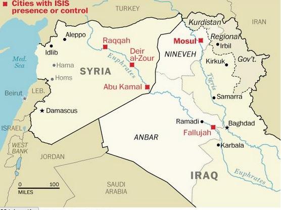 Un triunfo rotundo de los yihadistas en Irak – Mapa De Iraq