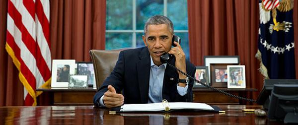 obama telefono