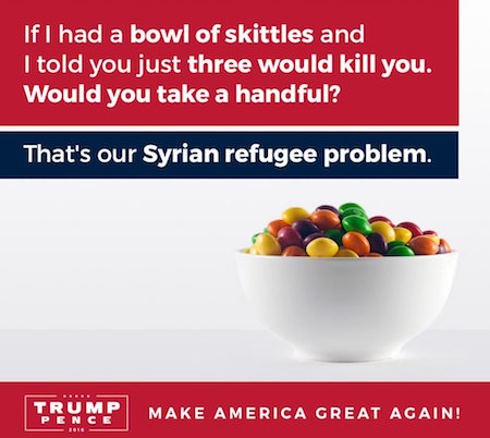 Los refugiados son veneno para los Trump